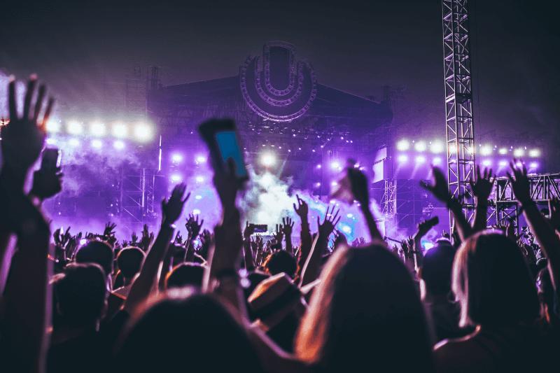 Ludzie na koncercie bawiący się w rytm muzyki