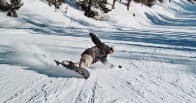 Zjeżdzanie na snowboardzie z góry