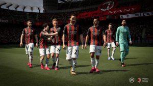 Wygląd piłkarzy AC Milan w grze Fifa21