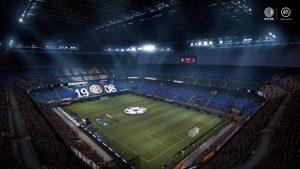 Widok stadionu w grze FIFA 21