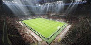Widok stadionu w grze PES 2021