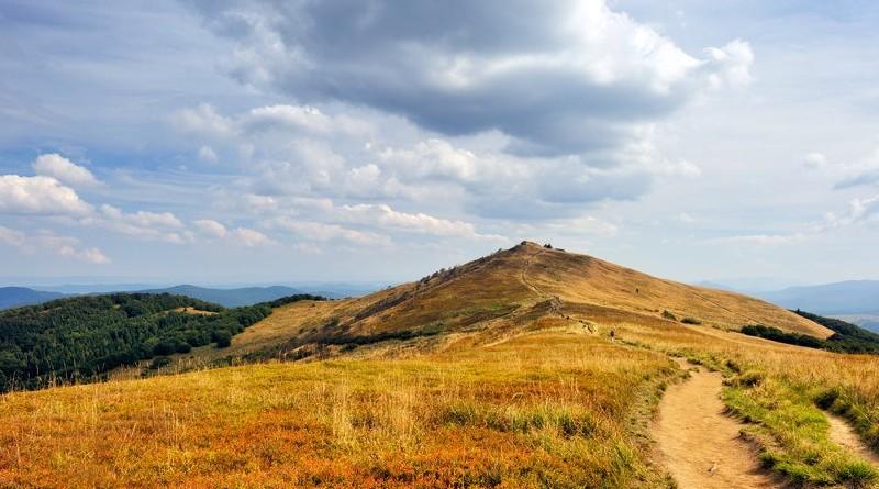 Widok na Bieszczadzkie góry